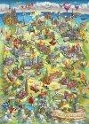 Puzzle 1000 Schmidt 58330 Ilustrowana Mapa Niemiec