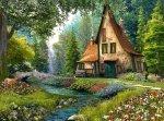 Puzzle 2000 Castorland C-200634 WYPRZEDAŻ: Cottage - Magiczna Chata