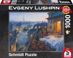 Puzzle 1000 Schmidt 59562 Evgeny Lushpin - Romantyczny Wieczór w Paryżu
