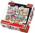 Puzzle 4w1 Trefl T-34315 Minnie i Przyjaciele