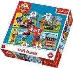 Puzzle 4w1 Trefl T-34311 Strażak Sam - Na Ratunek
