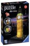 Puzzle 3D 216 Ravensburger 125883 Big Ben Nocą