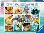 Puzzle 1000 Ravensburger 195060 Kolaż Surfera