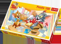 Puzzle 100 Trefl T-16196 - Tom i Jerry - Pyszne Śniadanko