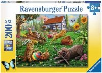 Puzzle 200 Ravensburger 128280 Koty i Psy