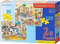 Puzzle 2w1 Castorland 70, 120 - U Weterynarza B-021154