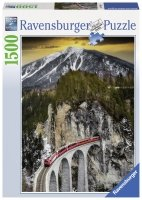 Puzzle 1500 Ravensburger 163588 Pociąg na Moście