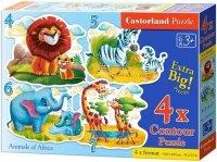 Puzzle 4,5,6,7 Castorland B-04454 Zwierzęta Afrykańskie