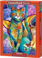 Puzzle 1500 Castorland C-151448 Kot - Feline Fiesta