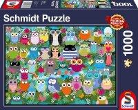 Puzzle 1000 Schmidt 58332 Kolorowe Sowy