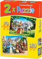 Puzzle 2w1 - 70, 120 - Castorland - B-021017 - Urocze Księzniczki - Charming Princess
