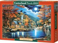 Puzzle 2000 Castorland C-200504 Domek - Cabin by the Lake