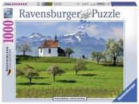 Puzzle 1000 Ravensburger 197033 Kościółek - Wasserburg - Niemcy
