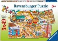 Puzzle 3x49 Ravensburger 093076 Budowa 3w1