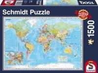 Puzzle 1500 Schmidt 58289 Mapa Świata