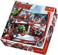 Puzzle 4w1 Trefl T-34245 Avengers