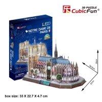 Puzzle 3D CubicFun 149 Notre Dame (Led) - L173h