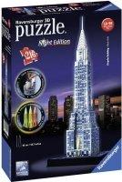 Puzzle 3D 216 Ravensburger 125951 Chrysler Building Nocą
