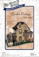 Puzzle 3D CubicFun 36 Domki Świata - Francja - Cottage W3118h
