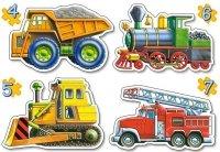 Puzzle 4,5,6,7 Castorland B-04256 Pojazdy