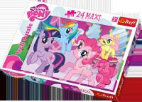 Puzzle 24 Maxi Trefl 14182 Pony - Przyjaźń to Magia