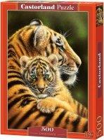 Puzzle 500 Castorland B-52448 Tygrysy