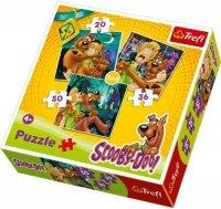Puzzle 3w1 Trefl T-34145 Scooby Doo - Uwaga ! Duchy !
