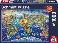 Puzzle 1000 Schmidt 58288 Mapa - Odkrywanie Świata