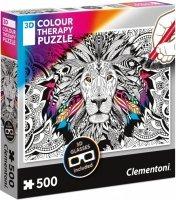 Puzzle 500 Clementoni 35051 Lew - 3D Color Therapy