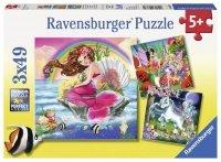 Puzzle 3x49 Ravensburger 093670 Świat Mistycznych Stworzeń 3w1