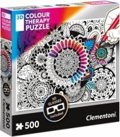 Puzzle 500 Clementoni 35053 Kwiaty - 3D Color Therapy