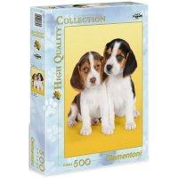 Puzzle 500 Clementoni 30356 Psy - Pieski - Małe Beagle