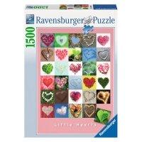 Puzzle 1500 Ravensburger 162949 Serce - Serca - Małe Serduszka