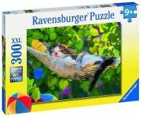 Puzzle 300 Ravensburger 132041 Kotek na Hamaku
