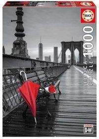 Puzzle 1000 Educa 17691 Czerwona Parasolka na Moście Brooklińskim