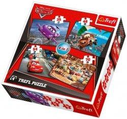 Puzzle 4w1 Trefl T-34107 Auta 2 - Cars