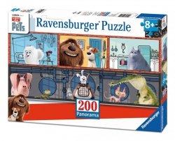 Puzzle 200 Ravensburger 128341 Sekretne Życie Zwierząt Domowych