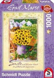 Puzzle 1000 Schmidt 59390 Gail Marie - Słoneczniki - Uśmiech