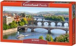 Puzzle 4000 Castorland C-400096 Vltava Bridges in Prague