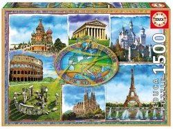 Puzzle 1500 Educa 17667 Siedem Cudów Europy