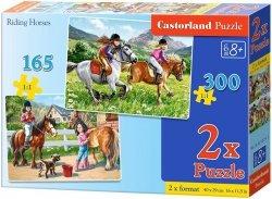 Puzzle 165, 300 - Castorland - B-021079 Jazda Konna 2w1
