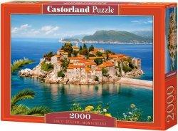 Puzzle 2000 Castorland C-200580 Montenegro - Sveti Stefan