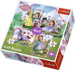 Puzzle 4w1 Trefl T-34314 Zosia - W świecie Księżniczki Zosi