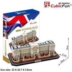 Puzzle 3D CubicFun 72 Pałac Buckingham - Duży Zestaw - MC162h
