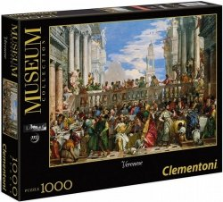 Puzzle 1000 Clementoni 39391 Museum - Veronese - Wesele w Kanie