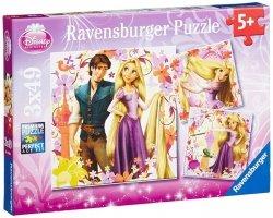 Puzzle 3x49 Ravensburger 092987 Zaplątani 3w1