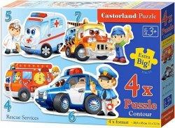 Puzzle 4,5,6,7 Castorland B-04393-2 Pojazdy Ratownicze