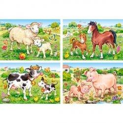 Puzzle 8,12,15,20 Castorland B-04416-1 Zwierzęta - Farma