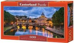 Puzzle 600 Castorland B-060054 Widok Bazyliki Świętego Piotra - Watykan