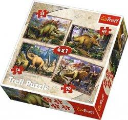 Puzzle 4w1 Trefl T-34249 Dinozaury